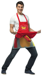 DELICIOUS DICK'S hot dog vending apron humor adult mens funny halloween costume