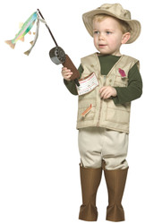 FUTURE FISHERMAN career boys kids fisher toddler halloween costume 3T 4T