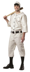 BASEBALL PLAYER old tyme historical babe ruth mens adult halloween costume