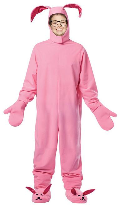 pink bunny suit kids pjs christmas story ralphie halloween costume child 710