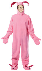 PINK BUNNY SUIT kids pjs Christmas Story ralphie halloween costume child 7/10