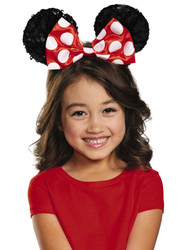 Red Minnie Child Sequin Ears kids girls costume accessory
