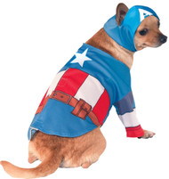 Captain America Superhero pet dog costume