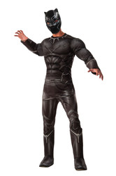 Captain America Civil War Deluxe Muscle Chest Black Panter adult mens costume