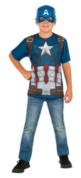 kids boys Captain America Civil War Top & Mask Costume