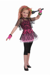 80's Rock Star singer musician kids girls Halloween costume