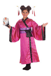 Geisha Japanese Dress kids girls Halloween costume