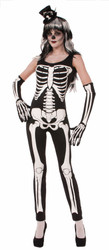 Skeleton Jumpsuit adult womens Halloween Day of the Dead costume
