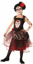 Day of the Dead Rosa Senorita Dress Girls costume