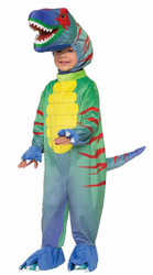 Blue yellow Sly Raptor dinosaur kids boys Halloween costume