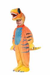 orange Rascally Raptor dinosaur kids boys Halloween costume toddler