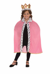 Queen Cape and crown kids girls Halloween costume