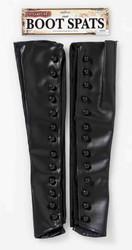 black Steampunk Boot Spats adult mens Halloween costume