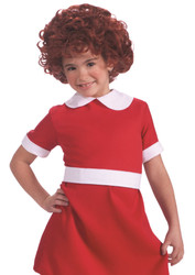 Wig Annie Child kids girls Halloween costume