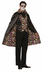 Day of the Dead Day Cape  adult womens Halloween costume
