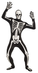 Skeleton Disappearing Man bones adult mens Halloween costume