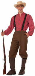 Pioneer Man adult mens Halloween costume STD