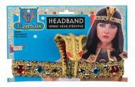 Egyptian Headband cleopatra adult womens Halloween costume Hat
