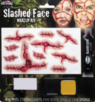 Slashed Face Stiches FX Prosthetic Makeup Kit