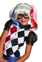 kids girls Harley Quinn Wig Suicide Squad costume accessory