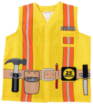 My 1st Career Gear Foreman Builder Shirt Kids Dress Up Ages 3-5