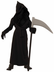 Grim Reaper Phantom Face Boys Halloween costume