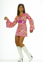 Flower Power Hippie Dress Adult Costume