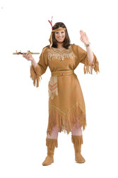 NATIVE AMERICAN MAIDEN indian womens pocahontas halloween costume plus 18-22