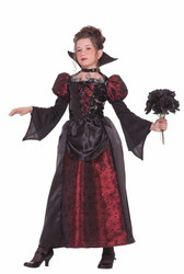 Deluxe Collection VAMPIRE MISS girls  kids child goth costume halloween L