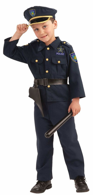 POLICE BOY blue cop officer uniorm boys kids navy costume halloween MEDIUM 8-10  sc 1 st  CostumeVille & POLICE BOY blue cop officer uniorm boys kids navy costume halloween ...