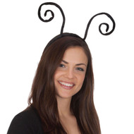 Black Velvet Insect Antenna Headband
