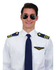 Pilot Costume Kit Includes Sun Glasses Epaulets Flight Wings