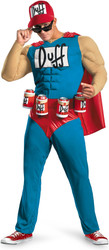 Duffman Muscle Classic Adult Costume