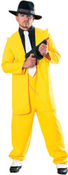 Yellow Zoot Suit Gangster Mens Costume