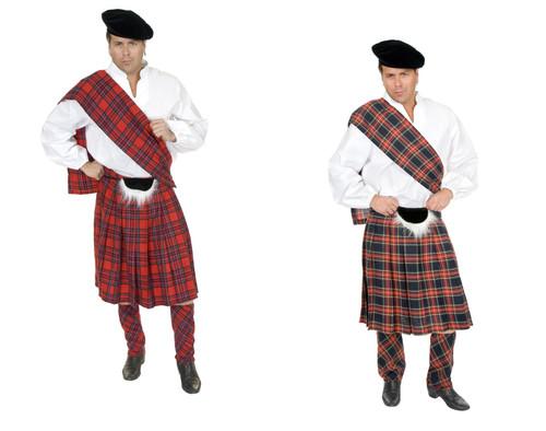 plaid scottsman braveheart scottish kilt scotland halloween costume