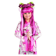 PINK PRINCESS WIG pop star diva girls harajuku mermaid hair halloween costume