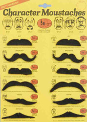 12 Designs Character Moustache Birthday Halloween costume accessory