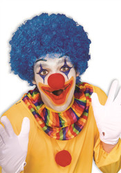 blue Color Team Spirit Clown WIG adult womens mens Halloween costume accessory