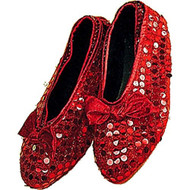 red Sequin shoe covers Dorothy Wizard of Oz Halloween costume accessory