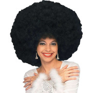 black deluxe Jumbo Afro WIG adult womens Disco 70s Halloween costume accessory