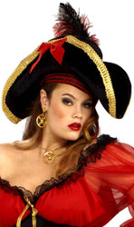 Lady Buccaneer Pirate Hat adult womens Halloween costume accessory