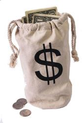 Money Bag fabric Police Heros Cops Robbers Halloween Costume Accessory