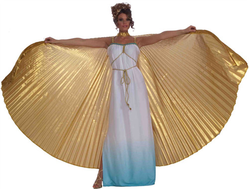isis egyptian goddess gold theatrical wings adult womens halloween costume accessory