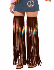 60s 70s Hippie Beaded Fringed Garters adult womens Halloween costume