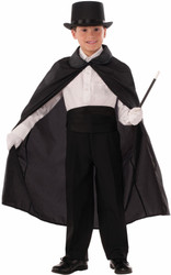 "36"" Child Magic Magician Cape kids boys Halloween costume"
