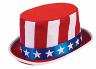 Patriotic Top Hat Fourth of July President adult mens womens costume