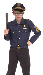 Instant Police Policeman Kit kids boys Halloween costume