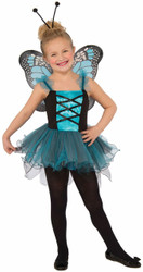 blue Fluttery Butterfly kids girls Halloween costume