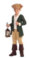 Paul Revere Colonial American Revolution kids boys Halloween costume