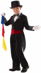 Child Magician Tailcoat ONLY kids boys girls Halloween career costume